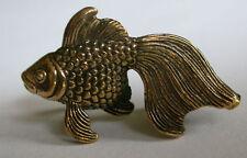 Solid Bronze Goldfish miniature by N.Fedosov.