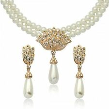 White Rose Gold Plated Costume Jewellery Sets