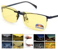 Visión Nocturna Antirreflejo Clip en Anteojos para Manejar Gafas de sol polarizadas UV400 Lente