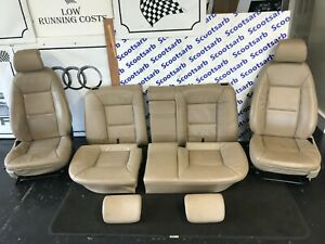 SAAB 9-5 95 Beige Leather Seats Front & Rear 4 Door Saloon 1998 Ideal 4 Project