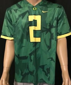 Rare Authentic Nike Mighty Oregon Duck's Civil War Camo Jersey Size XL