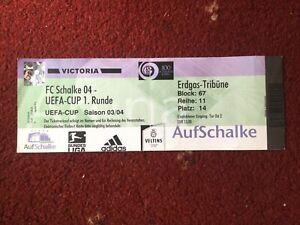 RARE Schalke v Kamen Ingrad Velikg UEFA Cup Full Match Ticket, 16/10/2003