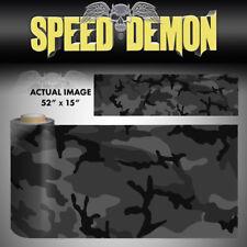 "Black Urban Camo Night Camo Unlaminad Vinyl Sheet 52"" x 15"" Graphic Decal Truck"