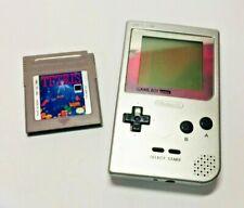 Nintendo Game Boy Pocket Silver 1996 MGB-001 with Tetris Game Works