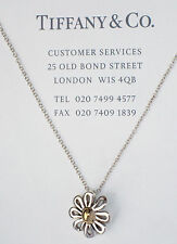 Tiffany & Co 18Ct 18K Gold Sterling Silver Paloma Picasso Daisy Flower Necklace