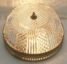 Art Deco Stil Deckenlampe Plafoniere NEU VERKABELT Dickwandige Glaskuppel