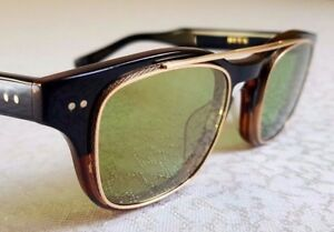 "DITA Eyewear ""Kasbah"" women's sunglasses Titane Noir / Gold 18 cts (NEUF)"