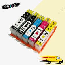 5PK Ink Cartridge For HP 364XL 364 XL Use in Photosmart 5510 5520 BK/PBK/C/M/Y
