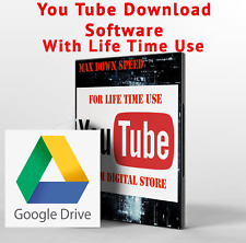 You Tube Video downloader For life Time Use google drive Instant Delivery