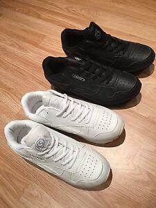 EX-WIDE Men Black White Light Trainer Lace Sneaker Shoe Casual Walk Size 6-11