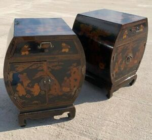 A Beautiful Vintage Pair Of Wooden Decorative Chinese  Draws Cupboard (C5)