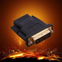Home DVI Audio Cord Cable 24+1 HDMI Male To DVI-D Female Converter Adapter