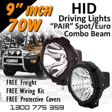 HID Xenon Driving Lights 9 Inch 70w PRO Spot Euro/Beam Combo 4x4 4wd Off Road