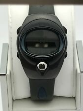 Pulsar Spoon Unisex Stainless Steel Gray Silicone Band Digital Watch PZX 039