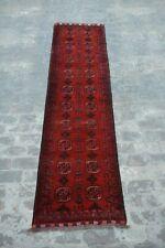 Stunning Afghan hand knotted rug runner / Turkoman bokhara rug runner / vintage