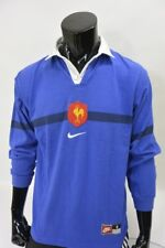 Maillot Rugby Equipe de FRANCE FFR NIKE Shirt Vintage Jersey 1990s SIZE S adults