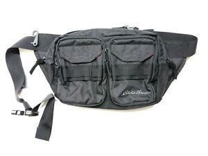 Eddie Bauer 4 Pocket Cargo Multi Pocket Unisex Adult Sling Bag Regular Black