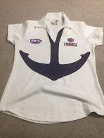 Fremantle Dockers AFL Womens Polo Shirt Size 14 Vintage Old Original Logo