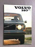1971 Volvo 140 142 144 145 16-page Original Car Sales Brochure Catalog