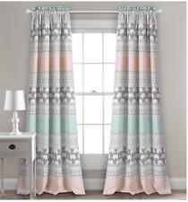 "Lush Decor Elephant Stripe Insulated Window Curtain Panels Pair, 52"" x 84"""