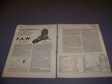 VINTAGE..P.A.W. MK.III 2.49 CC R/C ENGINE..1-VIEWS/GRAPHS/SPECS..RARE! (616P)