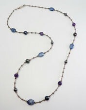 silver gorgeous necklace Caroline Pollack Amethyst pearl lapis lazuli sterling