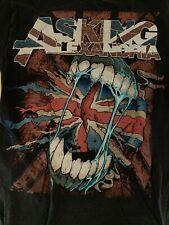 Asking Alexandria Union Jack T-Shirt United Kingdom UK Flag Mouth L Large