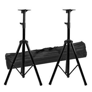 2X Universal Heavy Duty Tripod Monitor DJ PA Speaker Stand Adjust Height +Bag