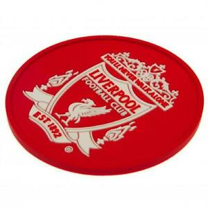 """Liverpool FC Silicone Coaster 9½cm / 3¾"""" Drink Beer Glass Official Merchandise"""