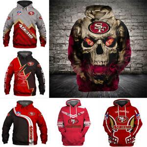 San Francisco 49ers Hoodie Pullover Sweatshirt Casual Long Sleeve Hooded Sweater