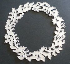 Sizzix Die Cutter HOLLY WREATH FRAME Thinlits fits BIGkick Big Shot Cuttlebug