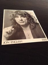 JON ENGLISH HAND SIGNED VINTAGE ORIGINAL PROMO PRM PHOTO MEGA MARE