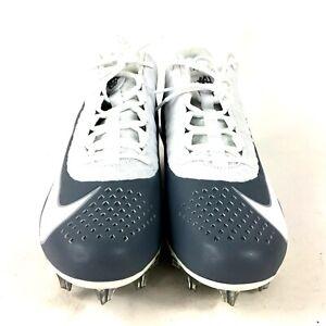 Nike Alpha Huarache 6 Pro LAX White Grey Lacrosse Cleats 904581-110 Size 11