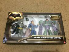 MATTEL Batman v Superman: Dawn of Justice Lex Luthor Figure 3-Pack NEW SEALED DC