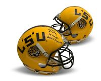 Justin Jefferson Autographed LSU Authentic Full Size Football Helmet Beckett COA