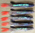 Pike Perch & Bass Pollack en plastique souple holo leurre annonce multiple