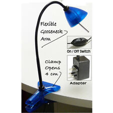 BluMagix Flexible Adjustable Halogen Bedside Study Reading Clip on Lamp/Light