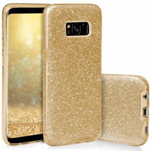 Apple iPhone Schutzhülle Handyhülle Silikon TPU Cover Case Glitzer Glitter 3in1