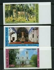 French Polynesia 1985 Churches  Imperforate  Set MNH X652