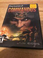 Commandos 2: Men of Courage (Sony PlayStation 2, 2002) No Booklet