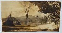 1911 Manchester, VT Main Street RPPC Postcard - vtg photo Vermont