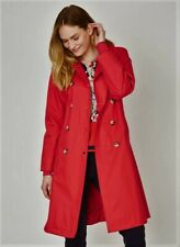 WOMEN'S WATERPROOF TRENCH COAT BY THOUGHT. SMALL IN RASPBERRY, NEW WITH TAGS