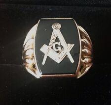 More details for mens gold masonic rings