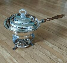 New listing Sheridan Silver Vintage Large Complete Chafing Dish/Warmer w/Glass Insert