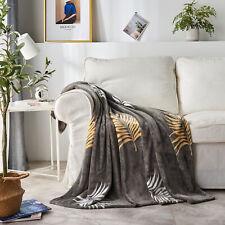 Luxury Fleece Throw Blankets Super Soft Fluffy Warm Microfiber Blanket