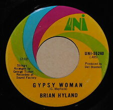 Brian Hyland Gypsy Woman / You and Me 2 1970 Rock 45 on Uni