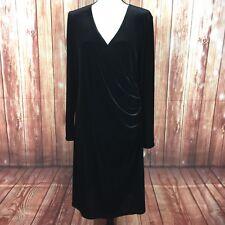 Anticipation Velvet Maternity Dress Womens XL Faux Wrap Long Sleeve Holiday