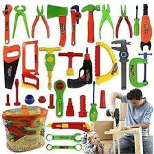 34 Pcs Repair Tools Set Boy Kid Toys Craftsman Pretend Play Fixing Skill