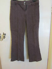 Ladies Brown New Look Bootcut Jeans with Vertical Grain in Size 10 - W30 L27.5