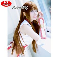 100CM Anime DEAD OR ALIVE Kasumi Basic Dark Brown Straight Party Cosplay Wig+Cap
